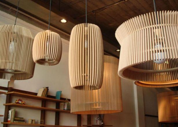 Net muebles - Alejandro Sticotti  lámpara colgante madera