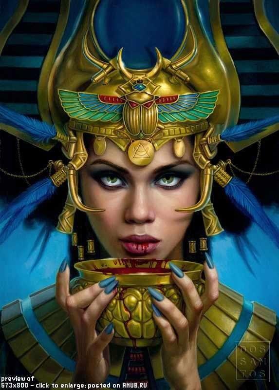Египет девушки арт