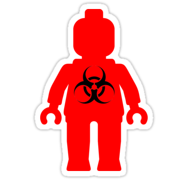 Minifig With Radioactive Symbol Sticker Stickers People And Symbols