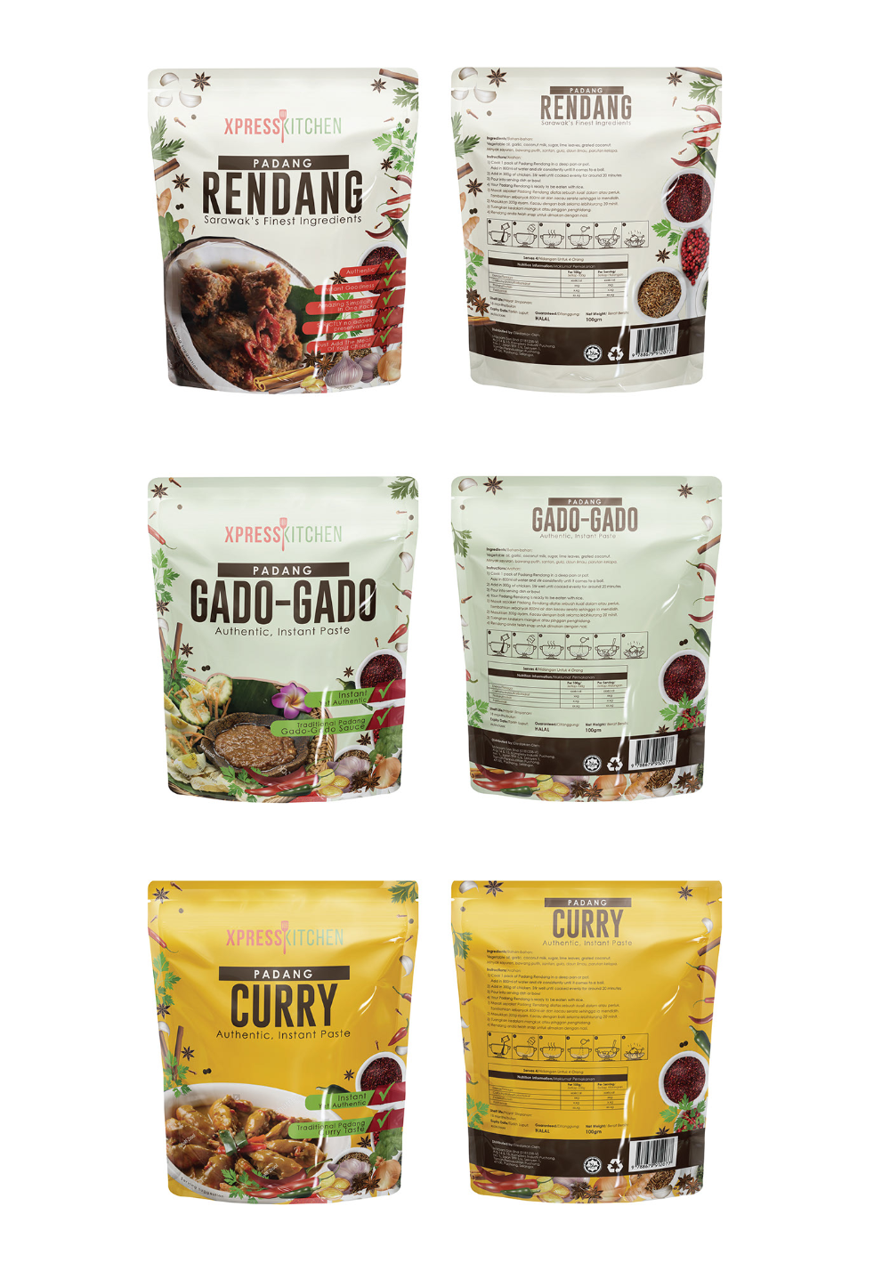 Packaging Design Malaysian Local Food on Behance di 2020