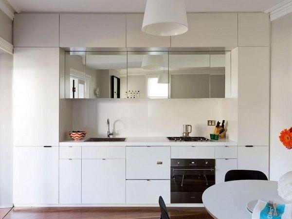 Cocinas pequenas de diseno muebles blancos soluciones - Soluciones cocinas pequenas ...
