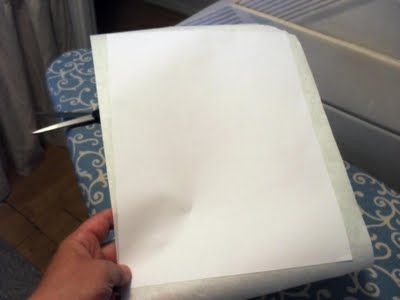 using freezer paper to transfer an image onto faric or wood