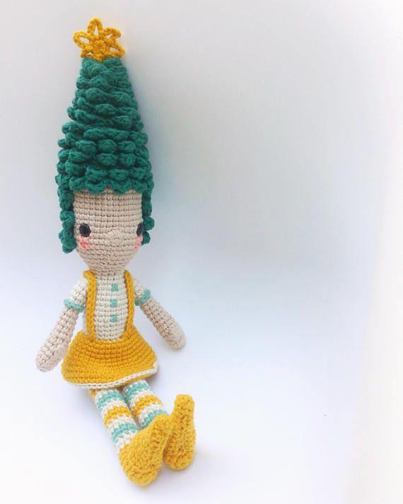 Diega the pine tree Crochet Pattern/Amigurumi | Tejido | Pinterest ...