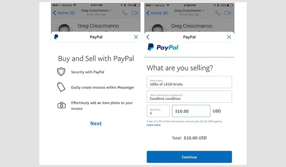 now you can send paypal invoices via facebook messenger http www