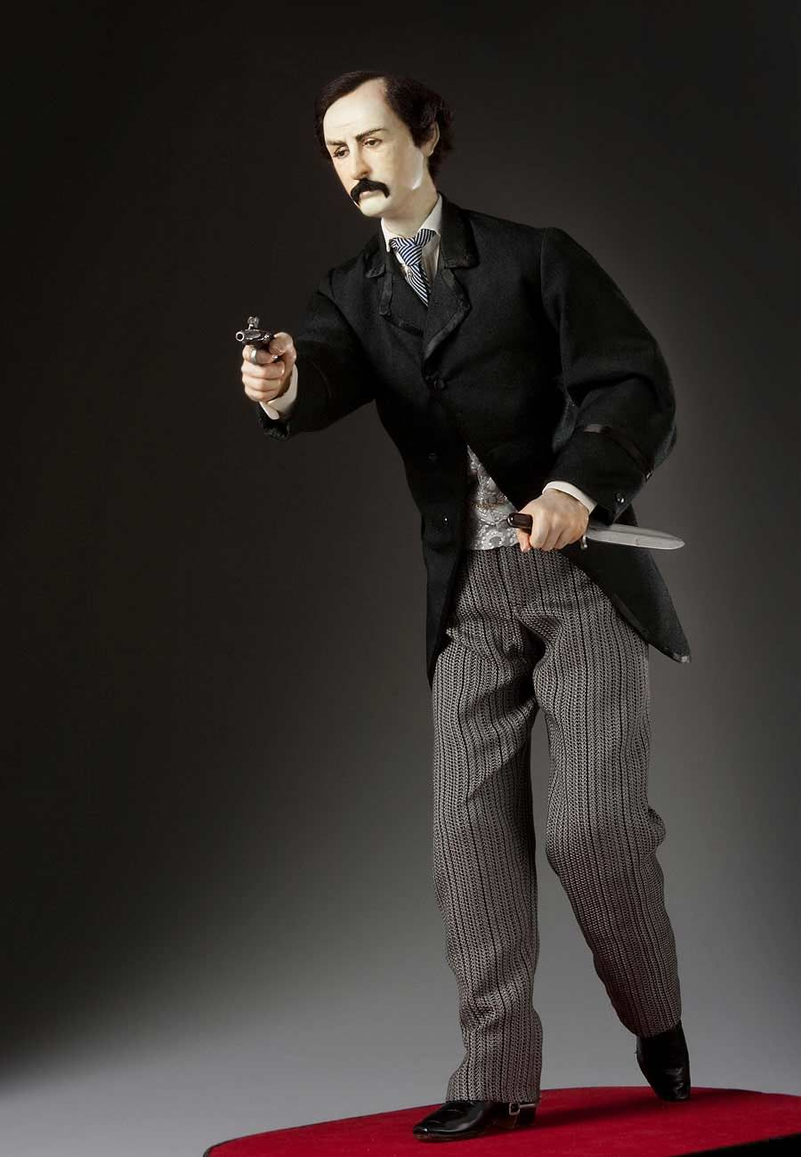 John Wilkes Booth Driven by rage and frustration over the defeat of the Confederate armies, Booth gathered a group of fellow Southern loyalists for the purpose of murdering the President, Vice President, and Secretary of State. His success immortalized him as a national villain. - Lincoln Era Figures by George Stuart