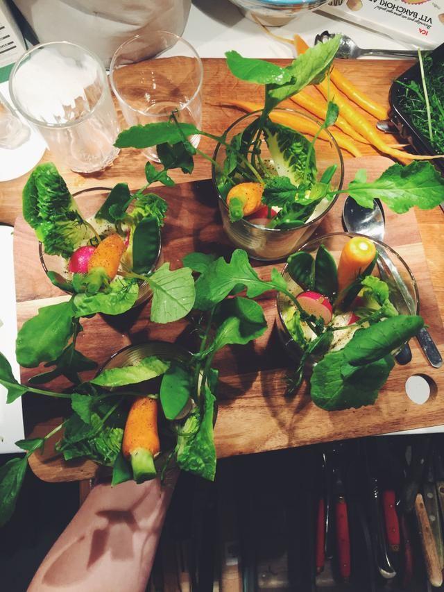 sveciadipp med färska grönsaker, recept av Tom Sjöstedt.