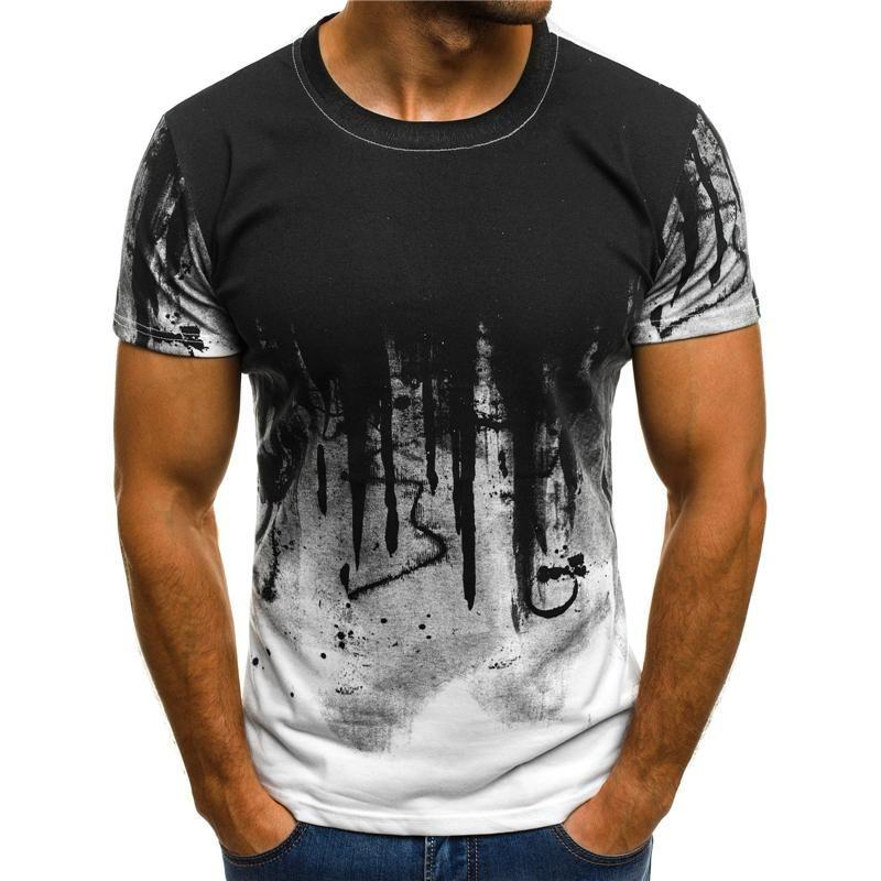 Disco Design Print Top Mens Boys Short Sleeve Summer TShirt Cotton Tee Casual