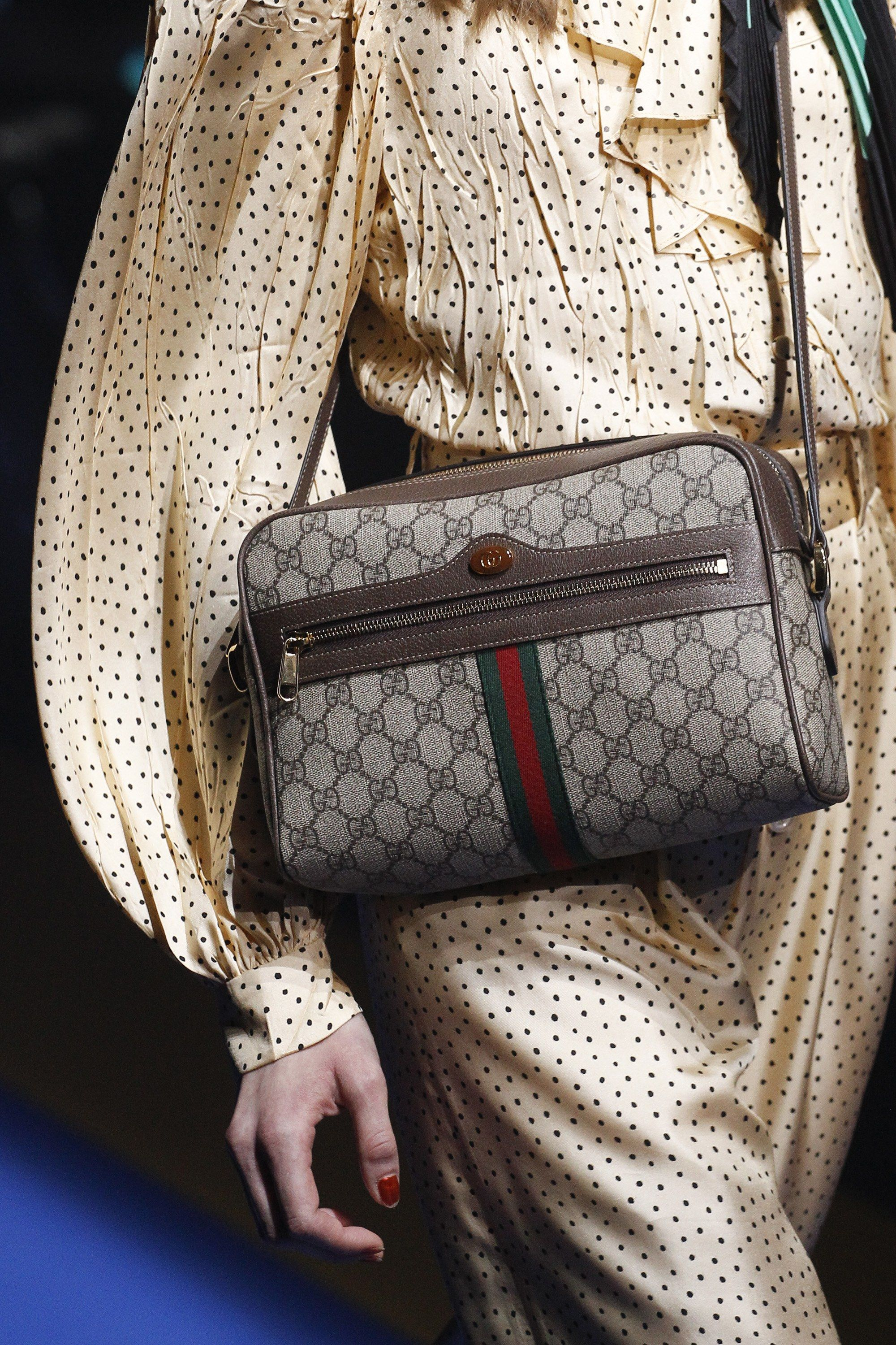 a4b643676d65 Gucci Spring 2018 Ready-to-Wear Fashion Show | Edgy bags with an ...