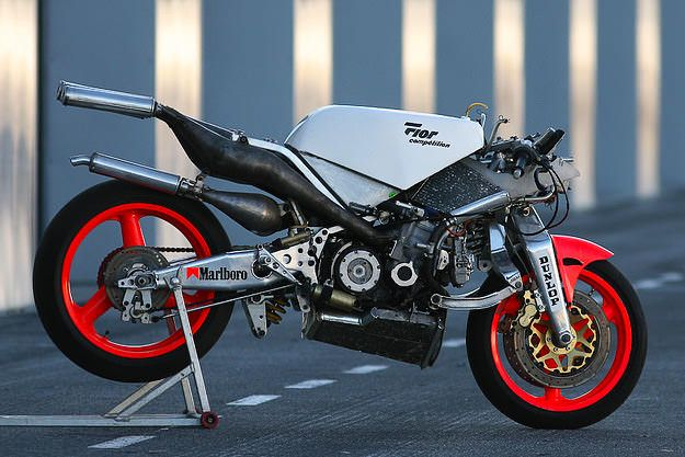 One of the unsung geniuses of motorcycle design is the Frenchman Claude Fior. This 300km/h race bike is typically unusual: check out the front suspension, a wishbone-style arrangement with a Koni shock absorber. The engine was also French, designed and built by JPX of Le Mans. It was a liquid-cooled two-stroke inline four, tuned to…