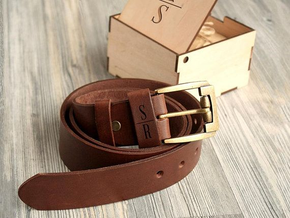 5f33689ea61e Personalized Leather Belt 3rd Anniversary Gifts for Men Custom Gift for Him  Fathers Day Gift for