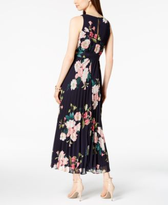 7bbb4b126bf97 Jessica Howard Petite Belted Floral Maxi Dress - Navy Multi 14P ...