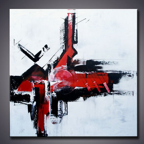 Grande peinture abstraite art minimaliste par for Oeuvre minimaliste