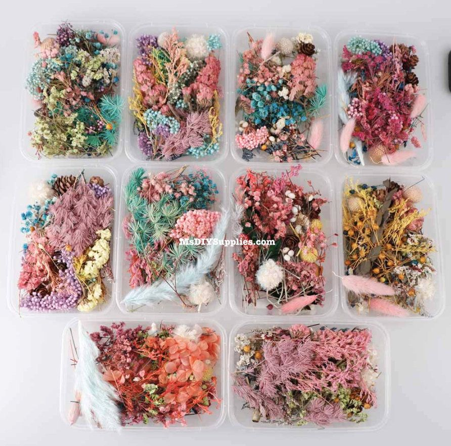 Real Dried Flower Silicone Resin Mold Fillings Jewelry Making Craft DIY Supplies