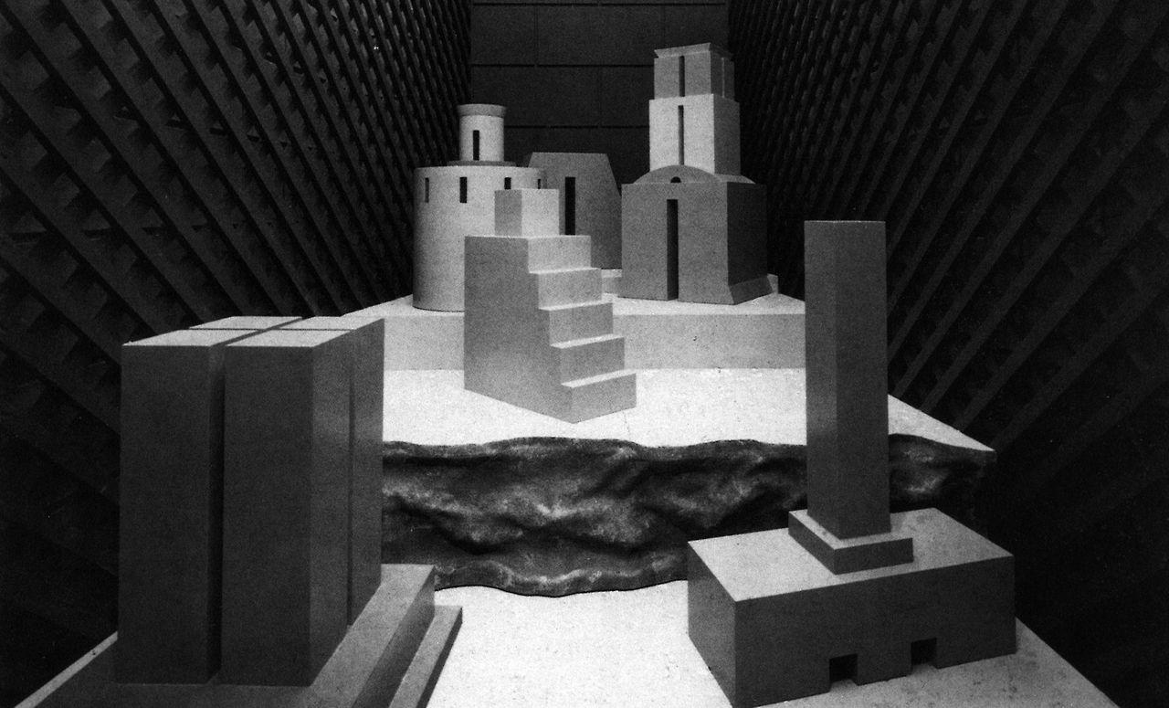 Michael Graves, Courtyard Installation, Deutsches Architekturmuseum, Frankfurt, Germany, 1983