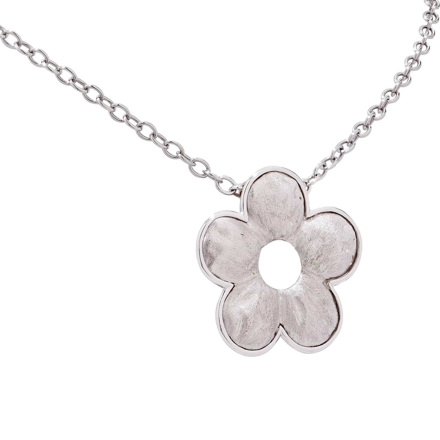 penny white flower preville products gold double pendant laura chain necklace