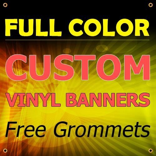 New 5x19 Custom Full Color Vinyl Banners Indooroutdoor Personalized Banners With Grommets Custom Vinyl Vinyl Banners Custom Vinyl Banners Personalized Banners