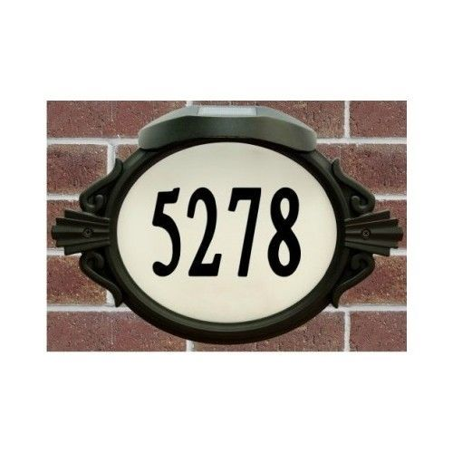 Roman Do It Yourself Address Sign Plaque With An Enviro Light Solar Led Cap Enviromate