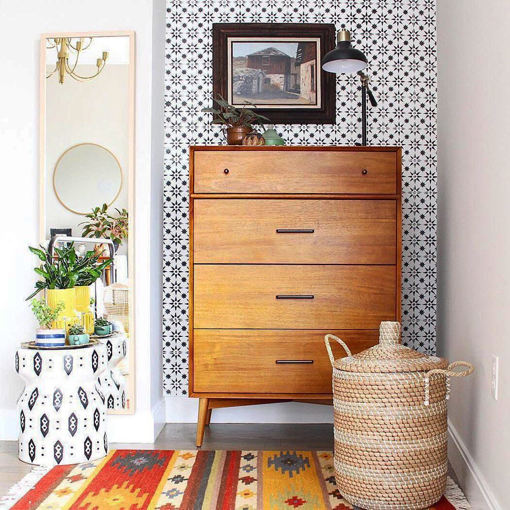 Modern Bachelor S Bedroom Callout In 2019: Our Mid-Century 4-Drawer Dresser Gets The Snazzy-chic