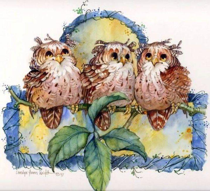 китайские картинки для декупажа совы странице смартфоном