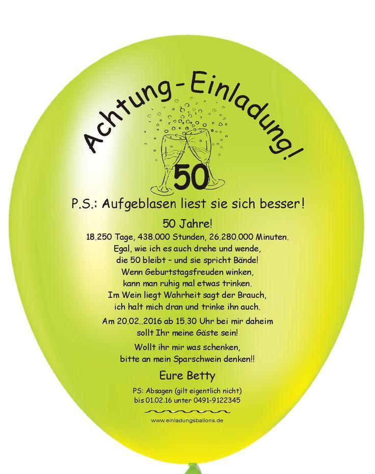 Bildergebnis Fur Lustige Einladungsspruche Zum 50 Geburtstag Mann