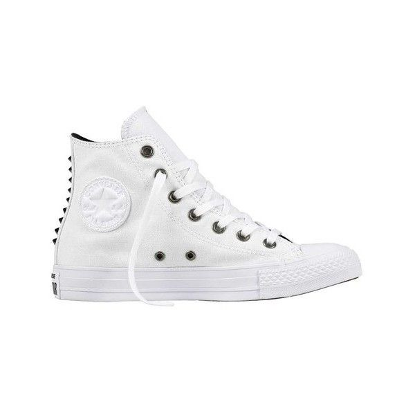 30bd36a8ddaa Women s Converse Chuck Taylor All Star Canvas Studs Hi Top Sneaker ( 60) ❤  liked on Polyvore featuring shoes