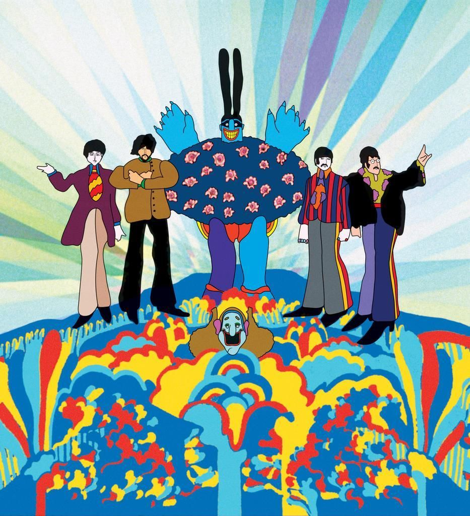 """3 FEET GEORGE HARRISON 1967 Psychedelic THE BEATLES Look GROOVY = POSTER 17/"""""""