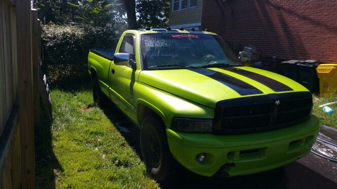 94 Dodge Ram Sublime Green Pearl Dropped Trucks Dodge Trucks Ram Ram Trucks