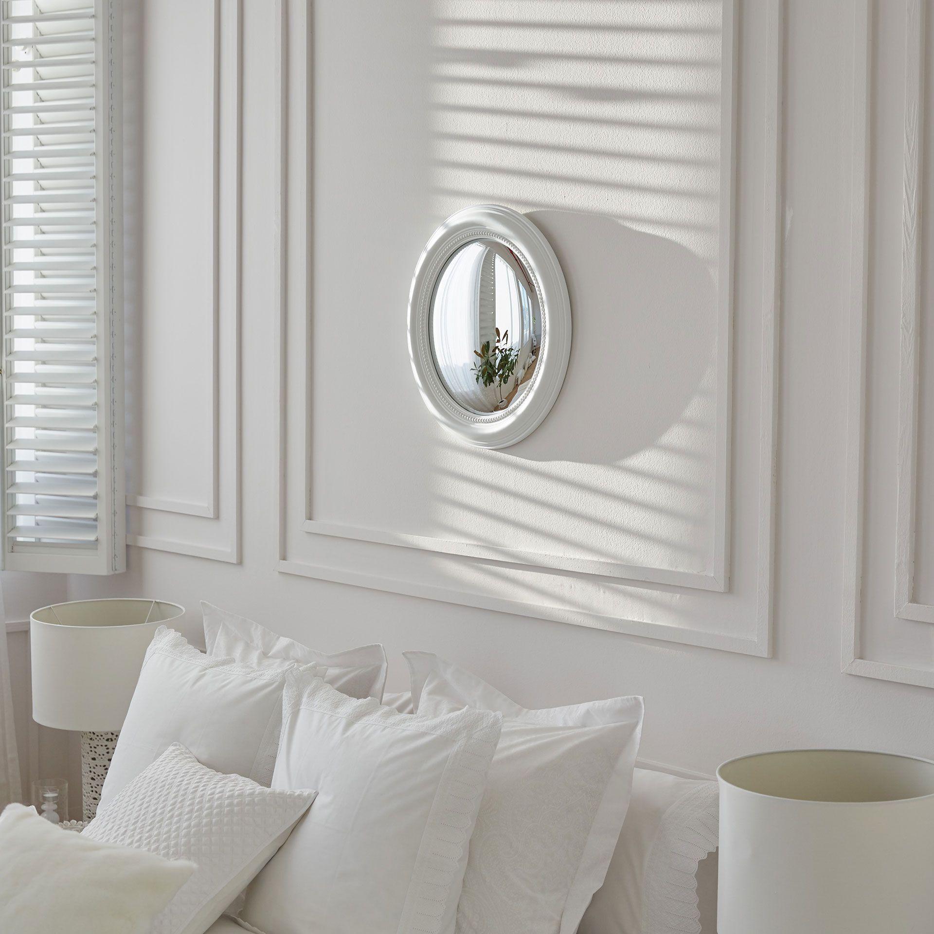 White Raised Convex Mirror Mirrors Decoration Zara Home  # Meuble Tv Zara Home