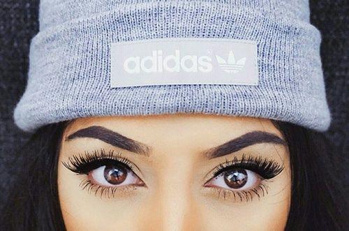 Imagem de adidas, girl, and eyes