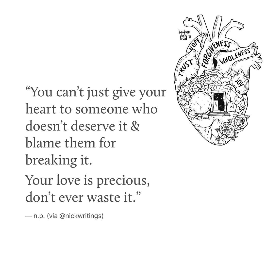 you can't just give your heart to someone...💕 www.CoupleStar.com ...
