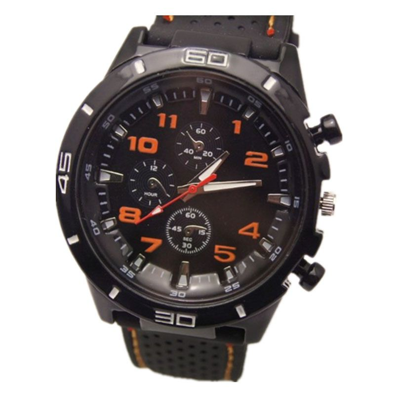 >> Click to Buy << popular models black band car racing style face precise quartz movement military silicone wrist men sports watch #Affiliate