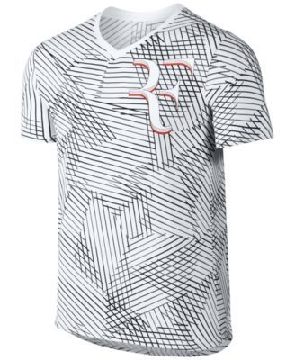 b9181633a3dd NIKE Nike Men'S Printed V-Neck Roger Federer Tennis T-Shirt. #nike #cloth # shirts