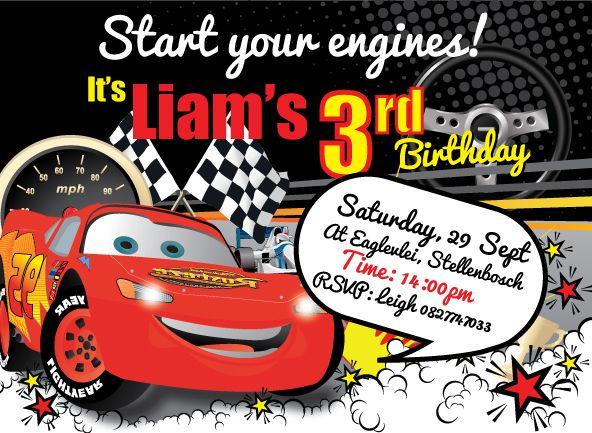disney cars party invites