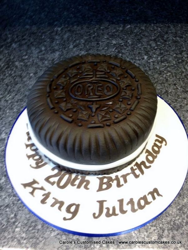 An Oreo themed birthday cake Caroles Customised Cakes
