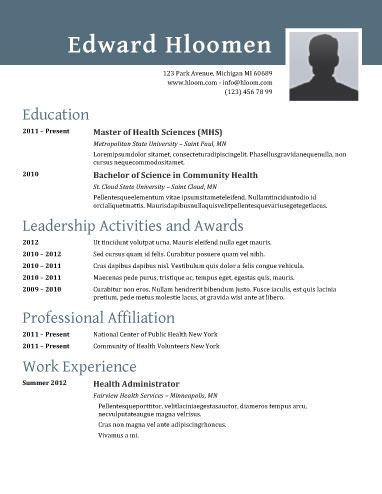 Traditional Elegance - Free Resume Template By Hloom.Com | Useful
