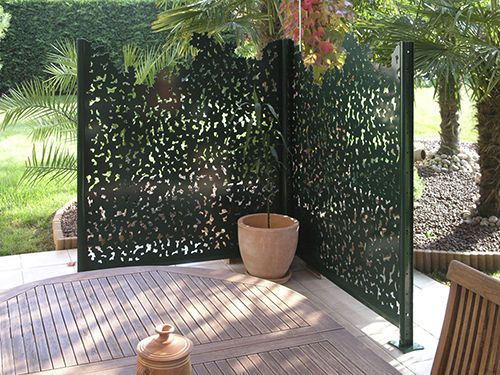 brise vue panneau en aluminium gamme nature groupe gmh home sweet home pinterest patio. Black Bedroom Furniture Sets. Home Design Ideas
