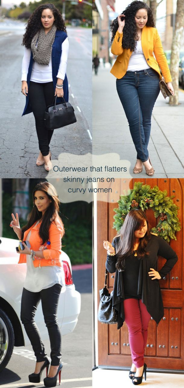 700c9c2f6e3 Tips-for-curvy-women-to-wear-skinny-jeans in style.. plus size fashion tips