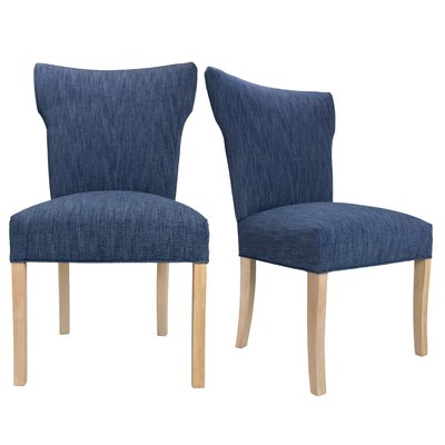 Sole Designs Bella Key Largo Spring Seating Double Dow Upholstered Side Chair Upholstery: Denim