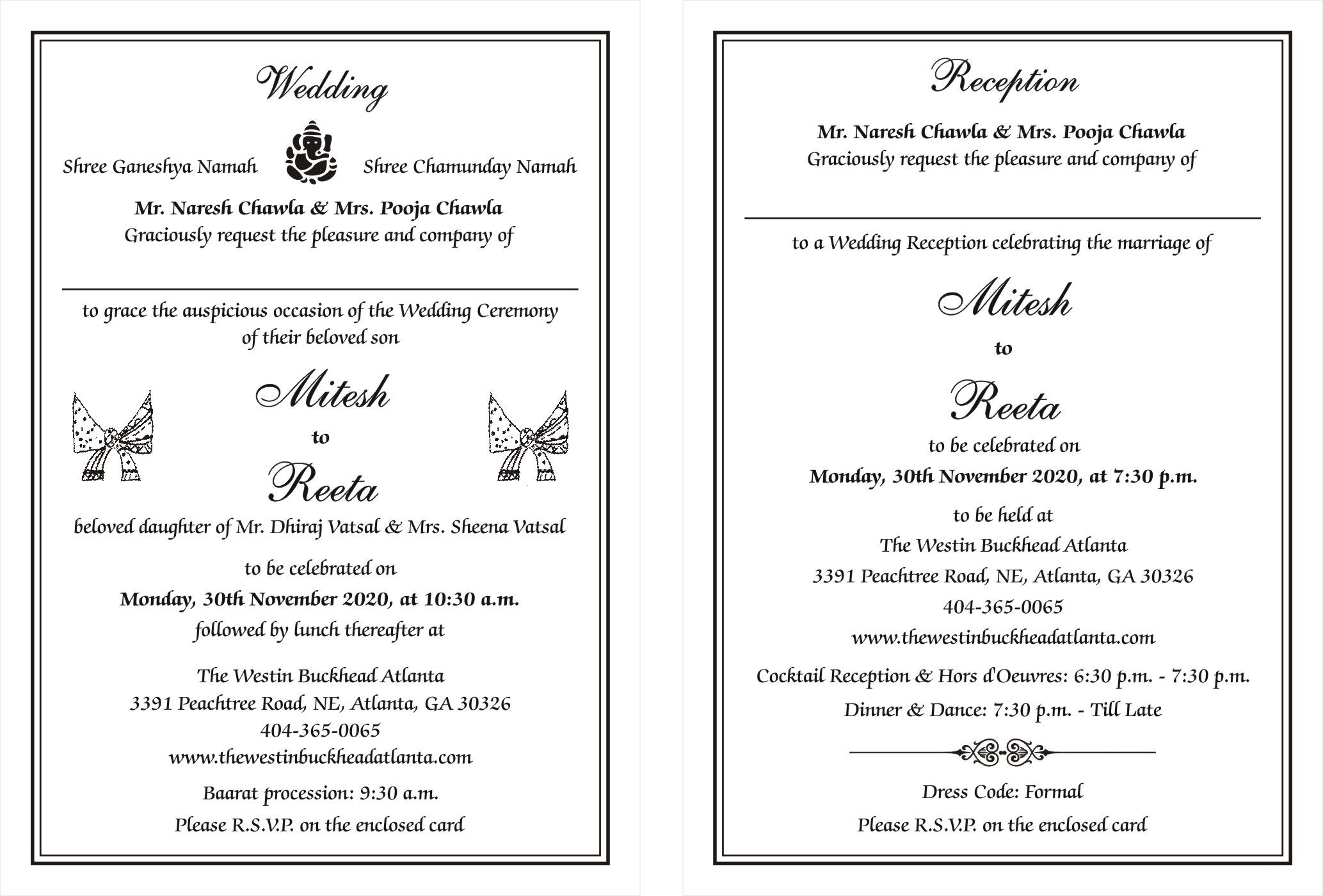 Hindu Wedding Cards Wordings | Hindu Wedding Card Wordings For ...