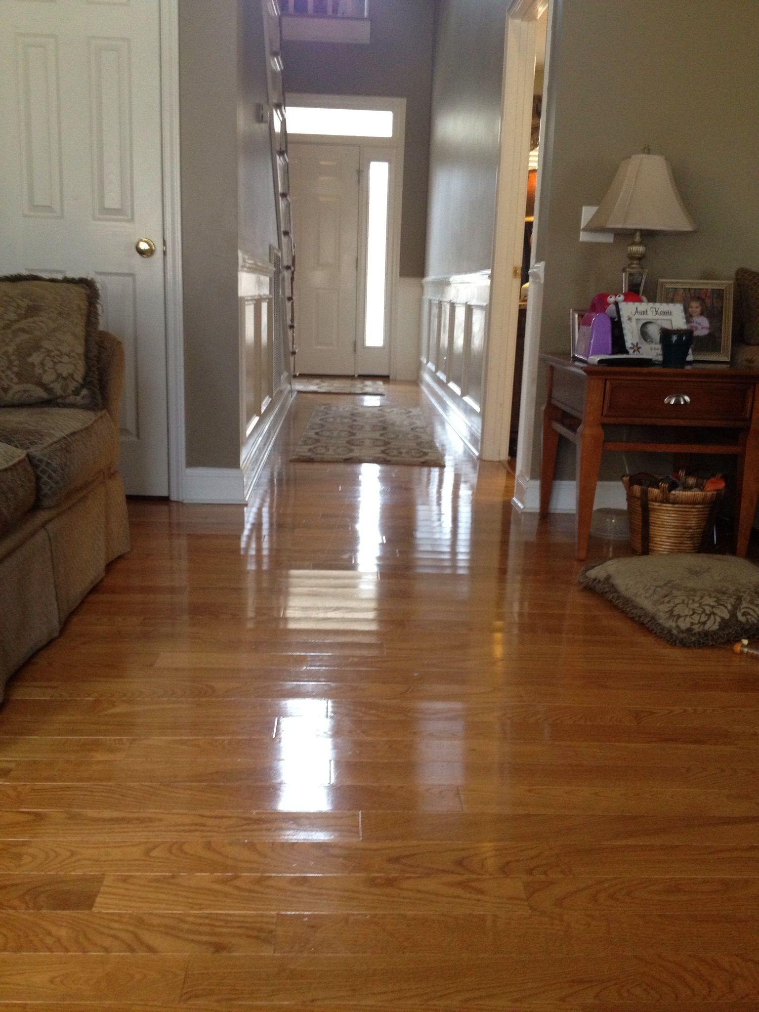 """3.5"""" oak hardwood flooring job completed by Karpet Korner"""