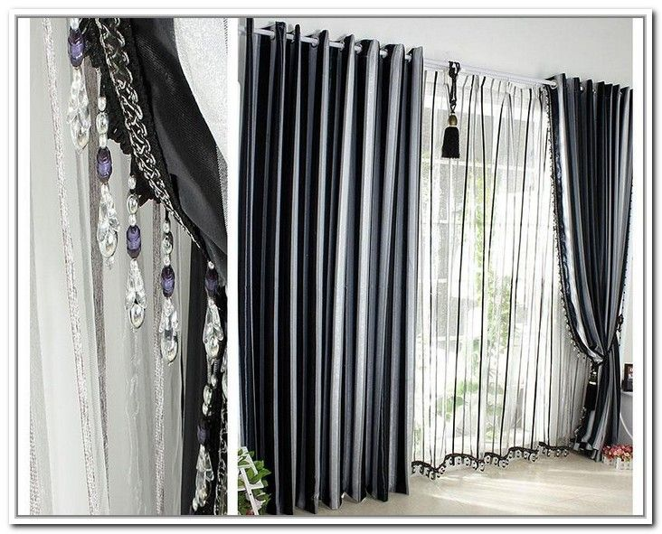 Grey Black White Curtains | Home decor ideas | Pinterest | Black ...