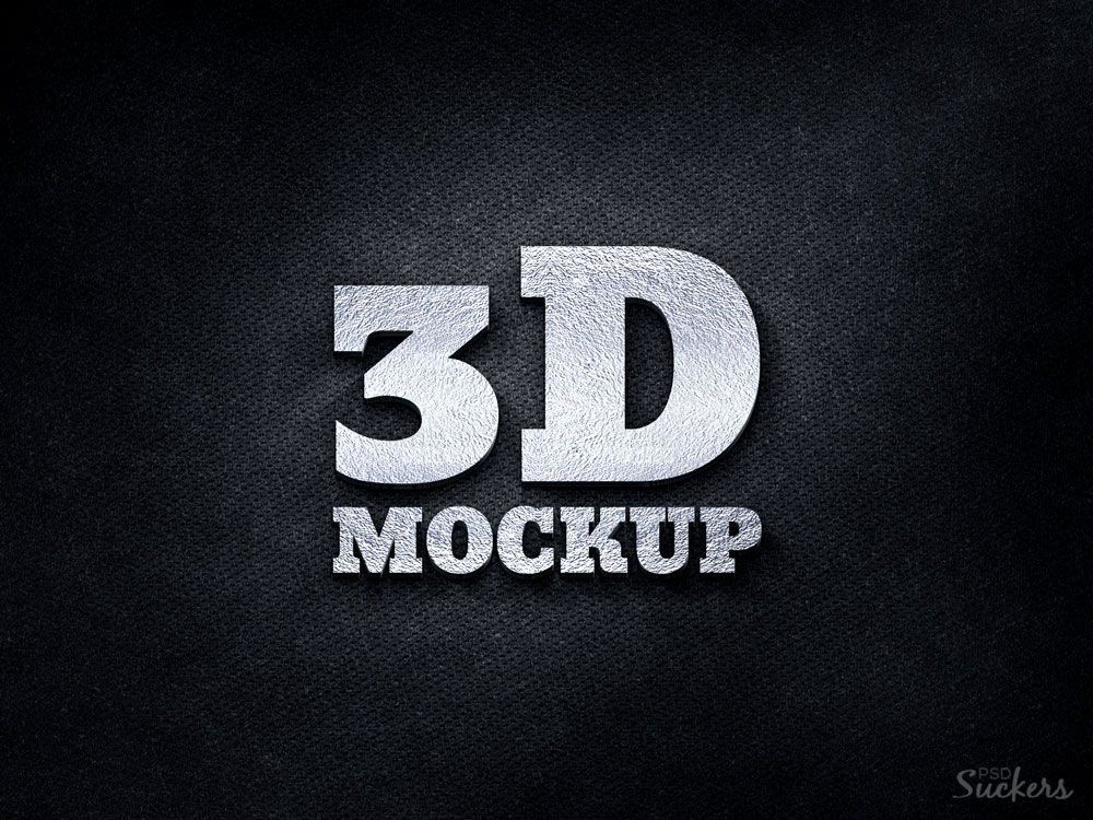 GemGfx Realistic 3D Logo Mockup PSD (FREE Download) | Freebies ...