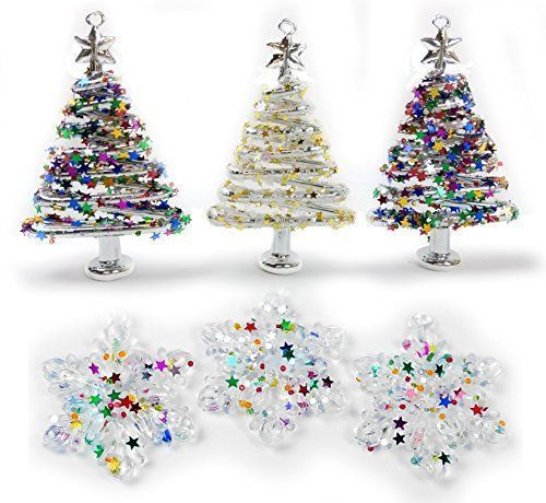 Festive, Trendy and Whimsical Glass Christmas Ornaments Merry