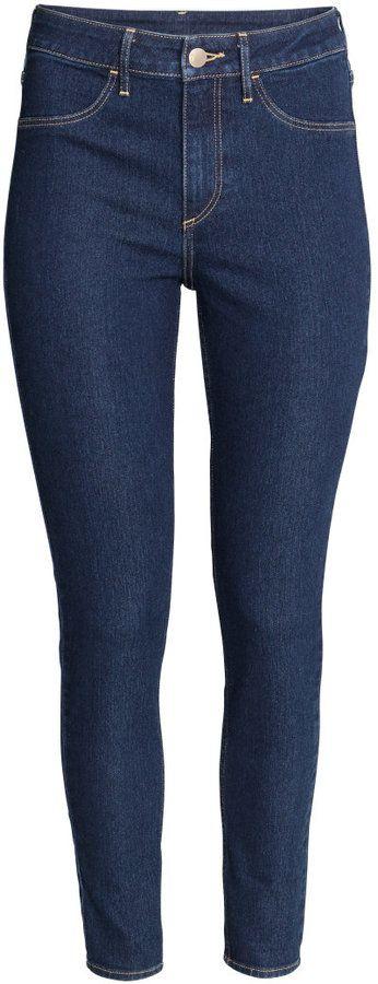 9035fe9597b H M - Skinny High Ankle Jeans - Dark denim blue - Ladies