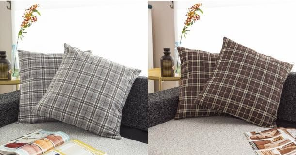 Amazon: Cute 24×24 Plaid Pillow Covers ONLY $4.95!
