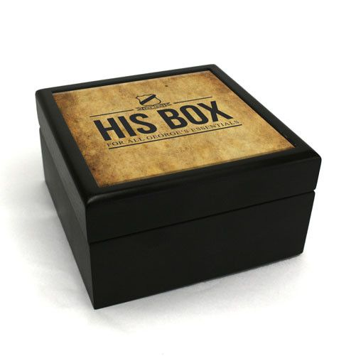 Personalised Small Wooden Print Box - yourgifthouse