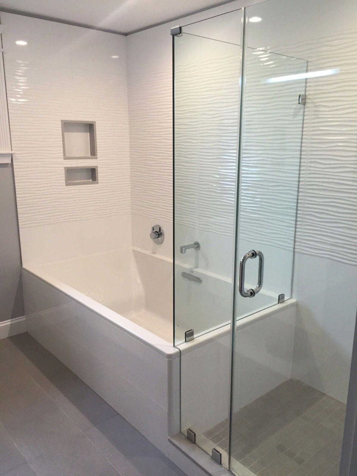 Shower With White Wavy Porcelain Tile Google Search Shower Tile Bathroom Shower Tile White Tile Shower
