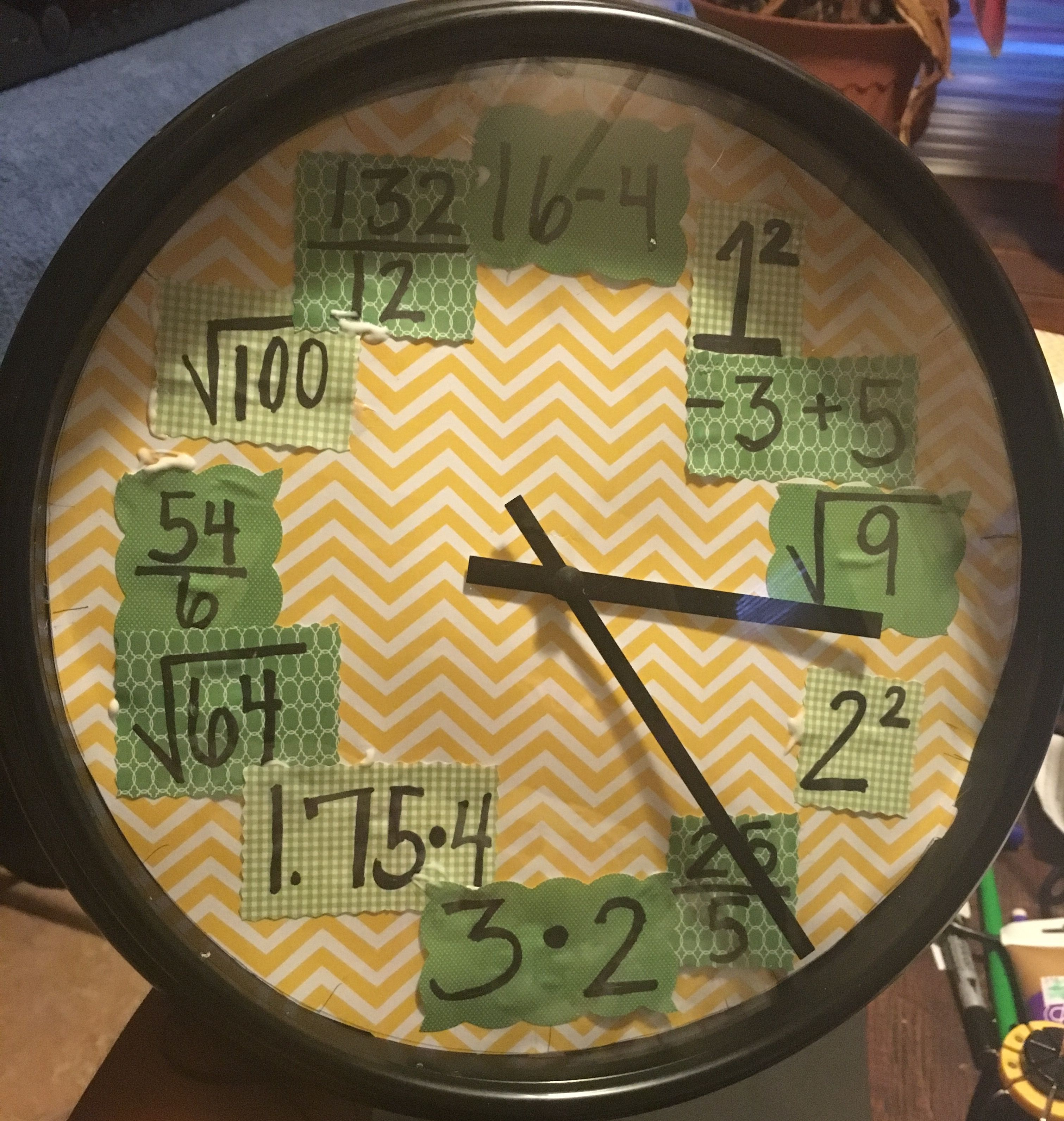 Change a simple wall clock into an accent piece and/or