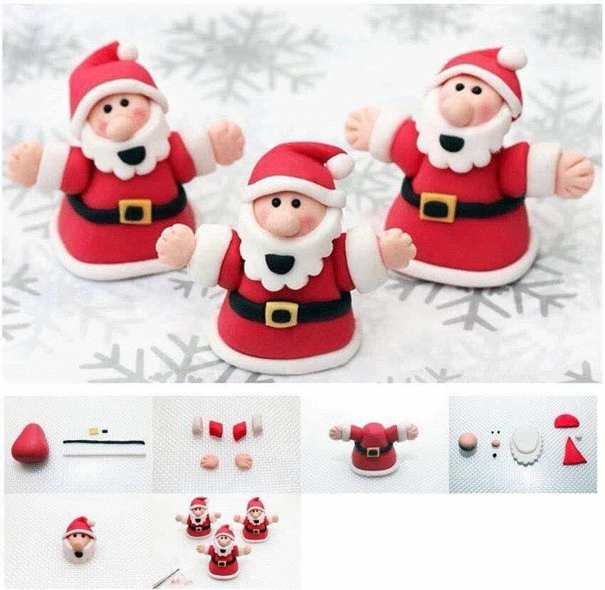 Fondant Christmas cake decorations | Fondant christmas ...