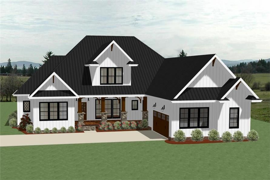 4 Bedroom Farmhouse Plan 3 5 Baths 3390 Sq Ft Plan 189 1104 Craftsman House Plans House Plans Farmhouse Craftsman House